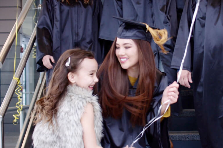 mom at graduation with daughter