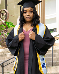 Martha Kikoko in full graduation attire
