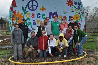 photo of peace meal gardens group