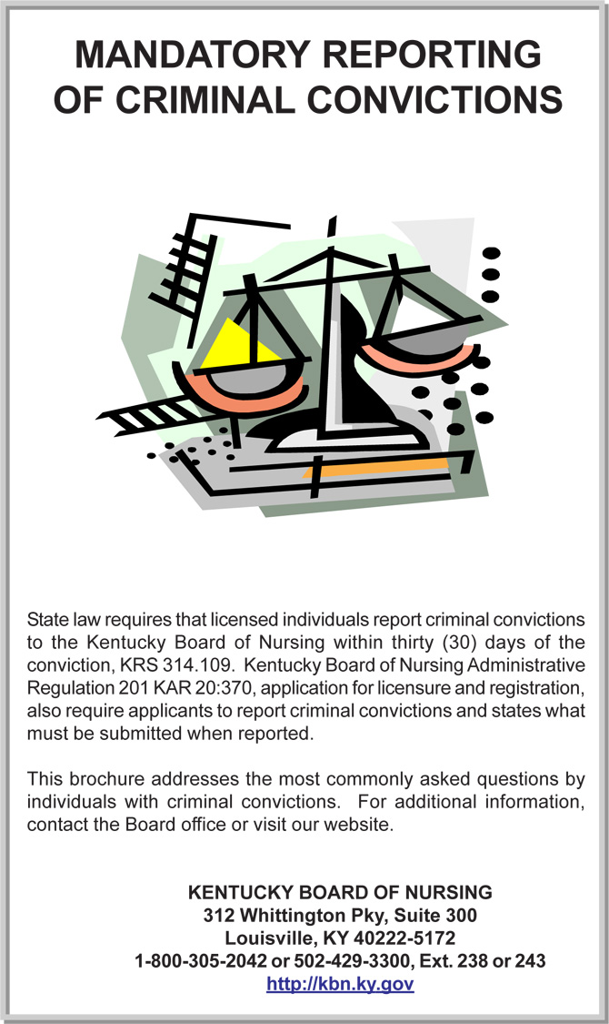 Kentucky Board of Nursing Criminal Convictions | BCTC