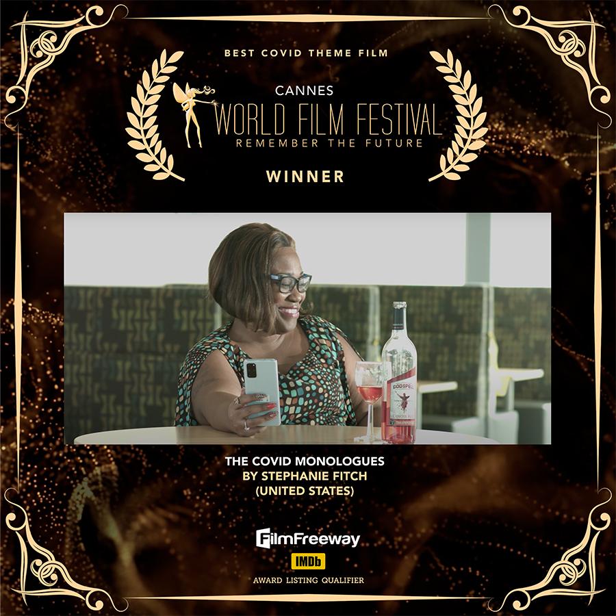 Cannes Film Festival Best COVID Theme Film winner certificate