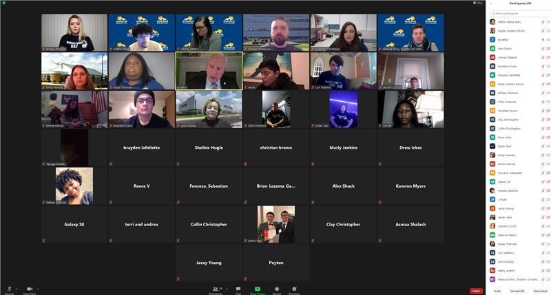 Screenshot of Zoom Virtual Event