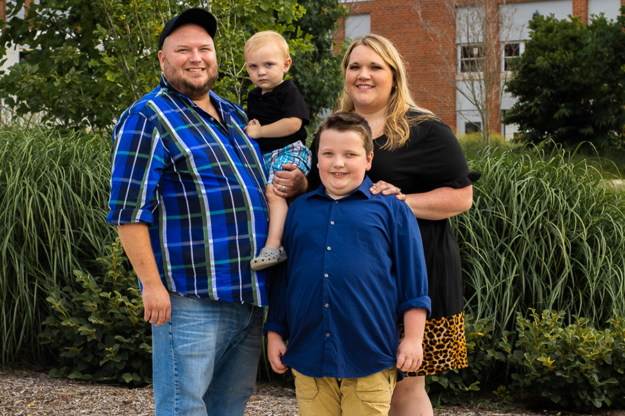 Mason and his family