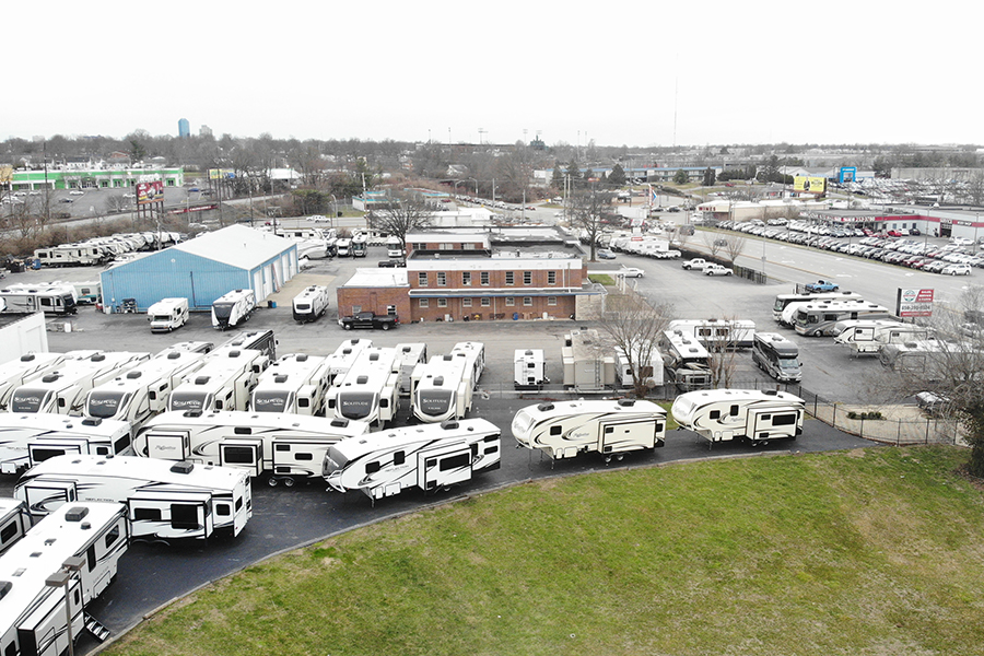 aerial photo of Northside RVs