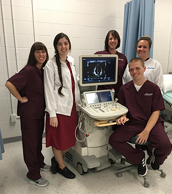 group of sonography students