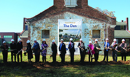 groundbreaking at Newtown Campus for The Den